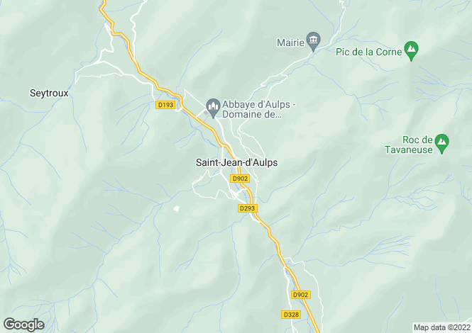 Map for Saint Jean d'Aulps, Haute Savoie, France, 74430