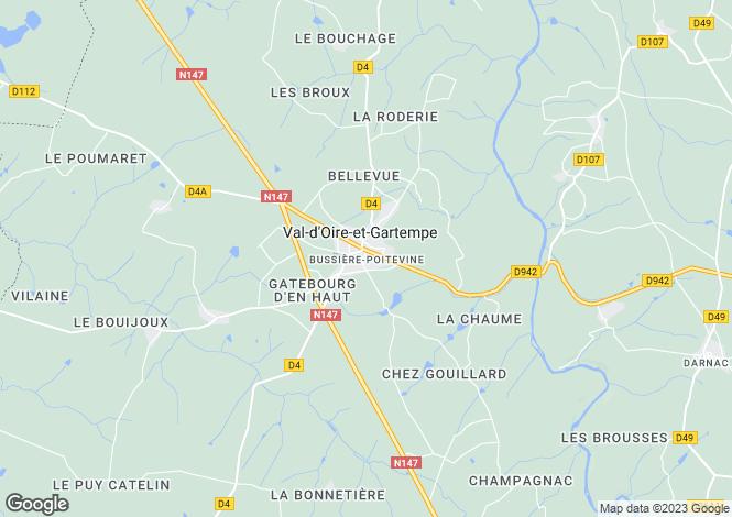 Map for Proche/Near Bussiere Poitevine, Haute Vienne