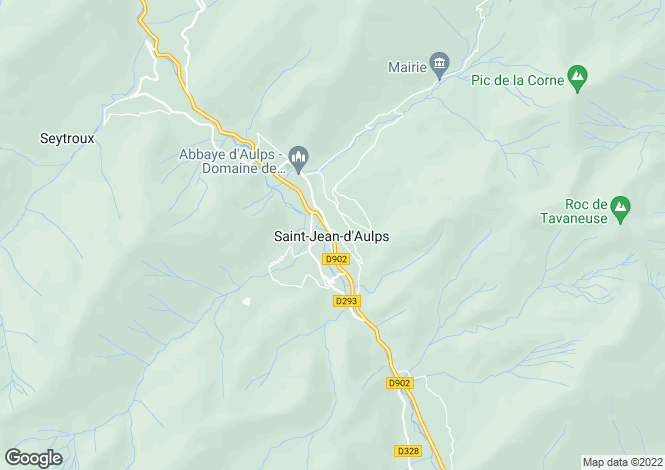 Map for Rhone Alps, Haute-Savoie, Saint Jean D'aulps