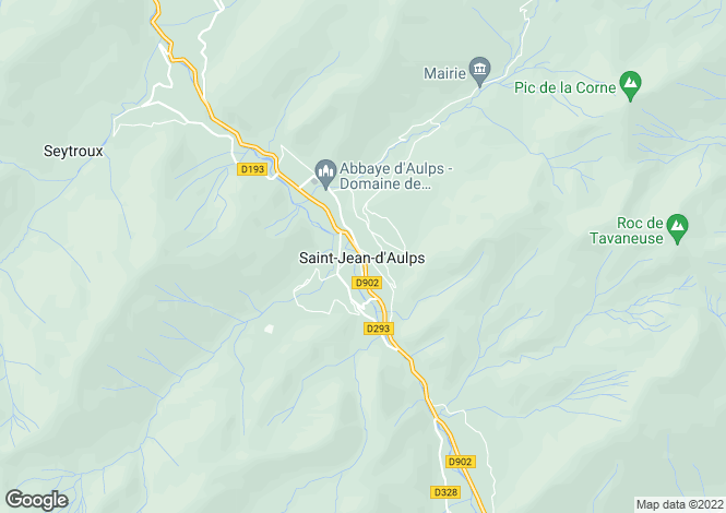 Map for St Jean d Aulps ,Haute Savoie ,France