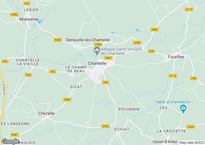 Map for CHANTELLE, Dordogne Area, S.W France - Aquitaine,