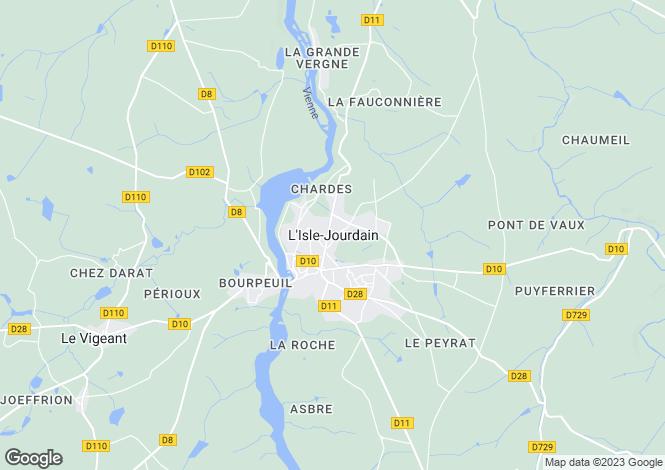 Map for Secteur: Availles-Limouzine, Vienne