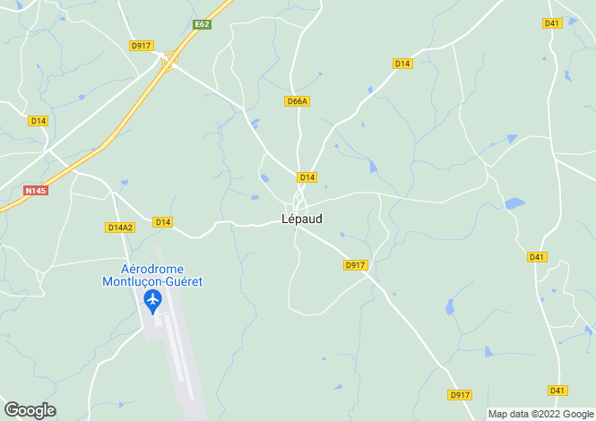 Map for lepaud, Creuse, France