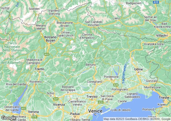 Map for Veneto, Belluno