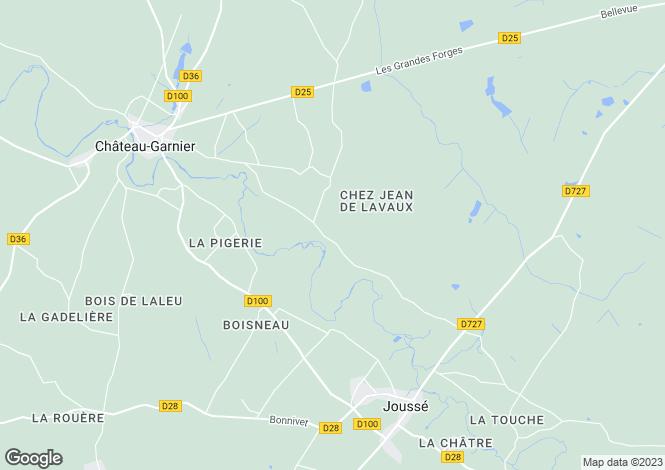 Map for Joussé, Vienne, Poitou-Charentes