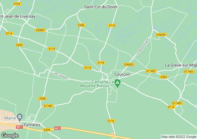 Map for courcon, Charente-Maritime, France