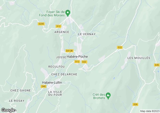 Map for Habère Poche, Haute Savoie, France, 74420