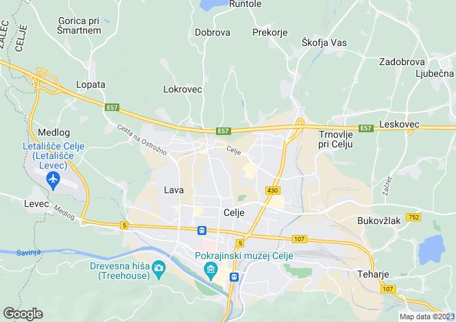 Map for Celje, Celje