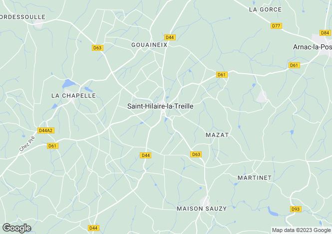 Map for St Hilaire La Treille, Haute-Vienne, 87190, France