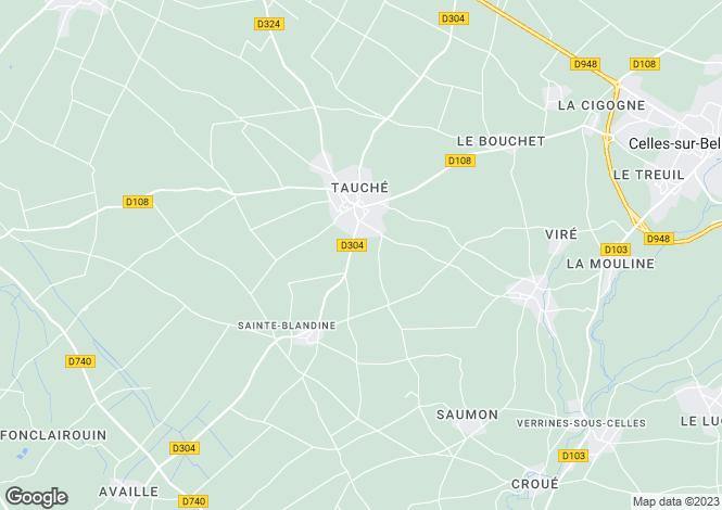 Map for ste-blandine, Deux-Sèvres, France