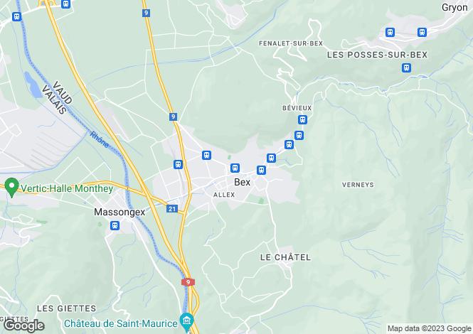 Map for Switzerland - Vaud, Bex
