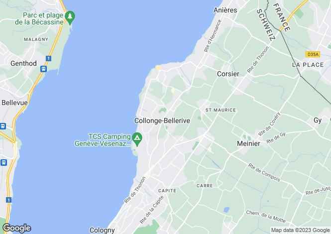 Map for Stunning New Built Mansion, Collonge-Bellerive