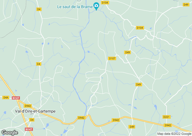 Map for Darnac, Haute-Vienne, 87320, France