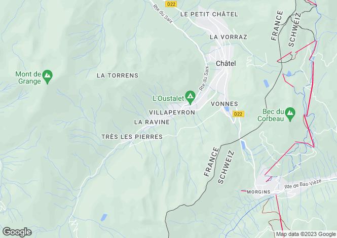 Map for Châtel, Haute-Savoie, Rhone Alps