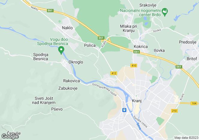 Map for Kranj, Kranj