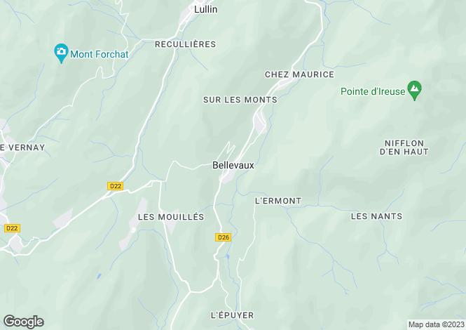 Map for Bellevaux, Haute Savoie, France, 74420