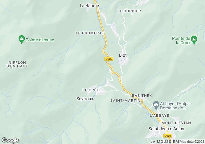 Map for Rhone Alps, Haute-Savoie, Seytroux