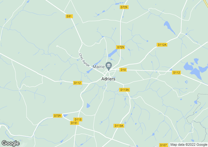 Map for Adriers, Vienne, Poitou-Charentes