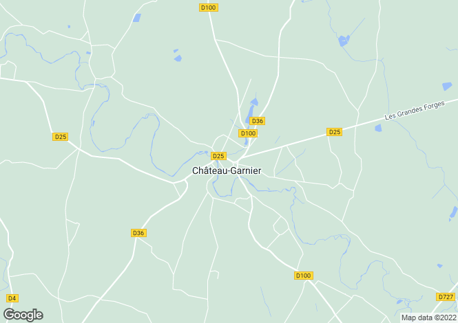 Map for chateau-garnier, Vienne, France