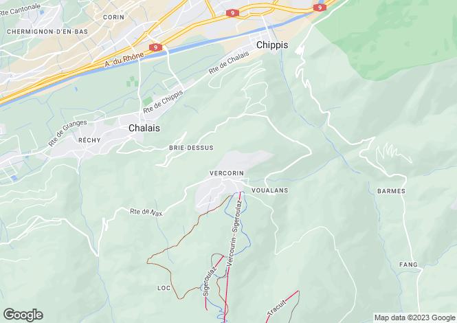 Map for Switzerland - Valais, Vercorin