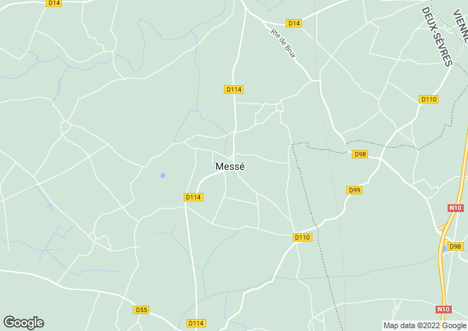Map for messe, Deux-Sèvres, France