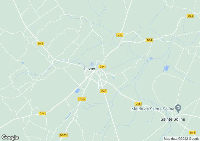 Map for lezay, Deux-Sèvres, France