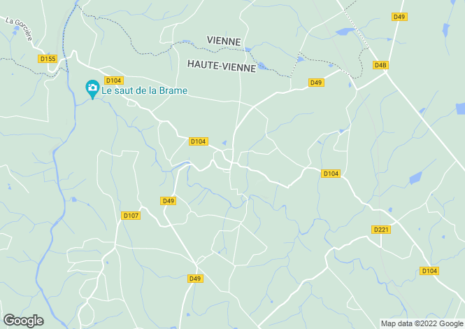 Map for thiat, Haute-Vienne, France