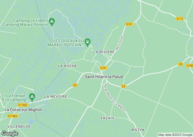 Map for Poitou-Charentes, Deux-Sèvres, St-Hilaire-la-Palud