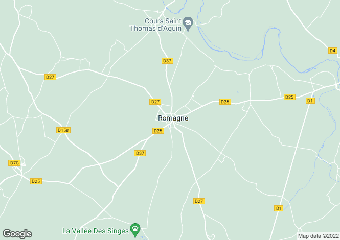 Map for romagne, Vienne, France