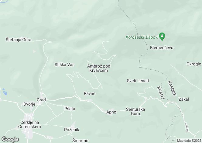 Map for Kranj, Cerklje