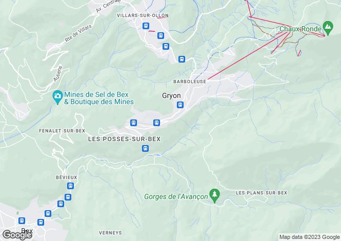 Map for Jardin Du Closel 5, Gryon, Vaud