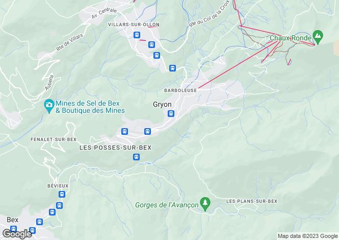 Map for Duplex Apartment, Route de Villars, Gryon, Vaud
