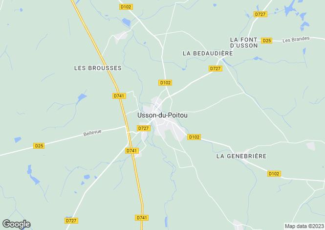 Map for Secteur: Usson-du-Poitou, Vienne