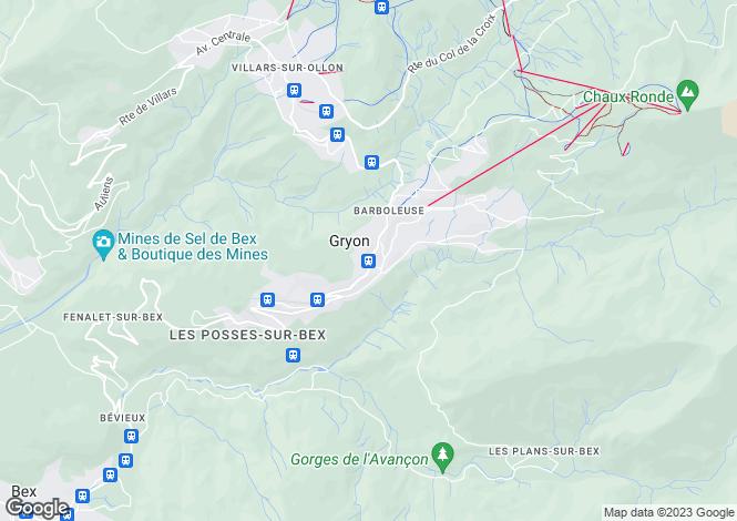 Map for Switzerland - Vaud, Gryon