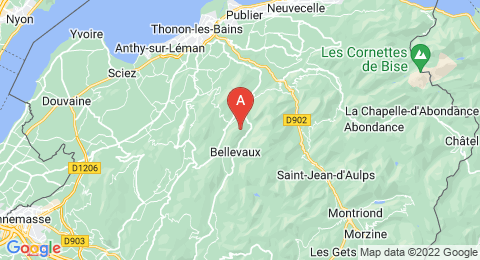 map of Mont Bichet (France)