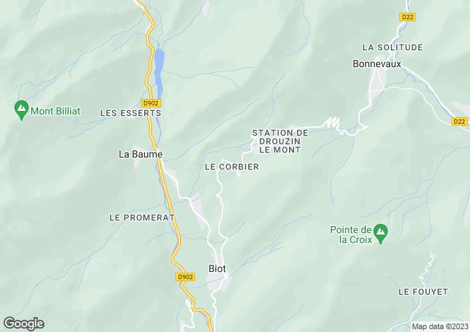 Map for Rhone Alps, Haute-Savoie, Le Biot