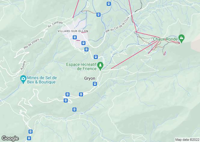 Map for Vaud, Gryon