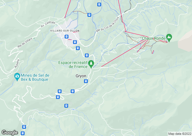 Map for Gryon, Vaud