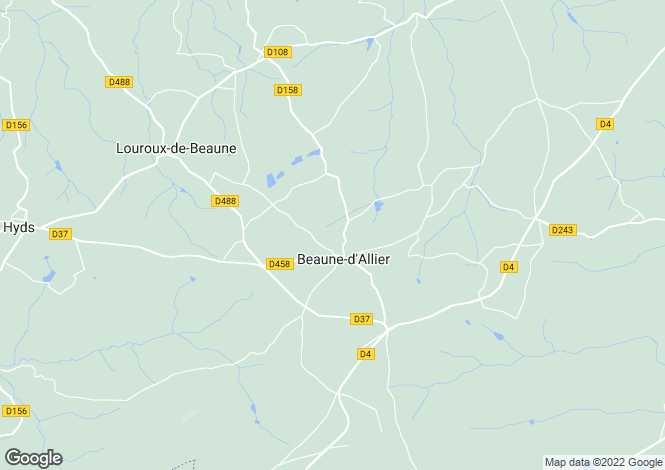 Map for beaune-d-allier, Allier, France