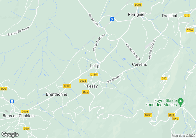 Map for Lully, 74890, France