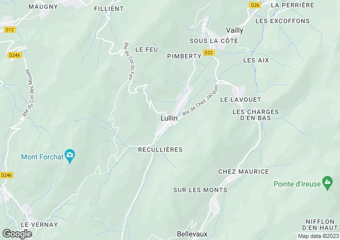 Map for Lullin, Haute Savoie, France, 74420