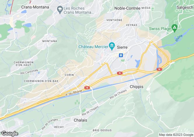 Map for Switzerland - Valais, Sierre