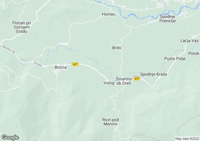 Map for Smartno, Mozirje
