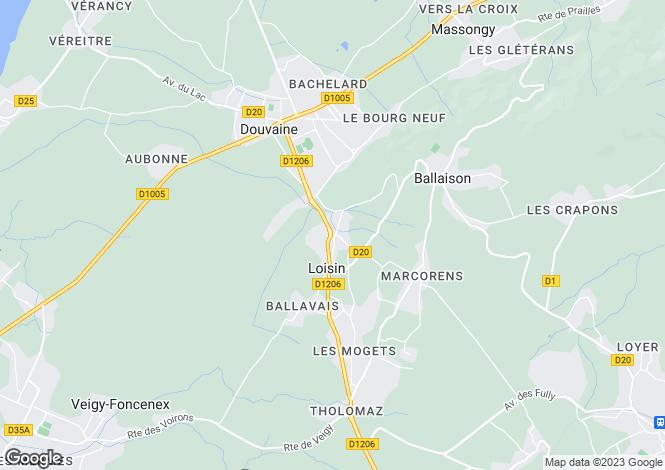 Map for Loisin, 74140, France