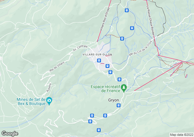 Map for Villars-Sur-Ollon, Vaud, Switzerland