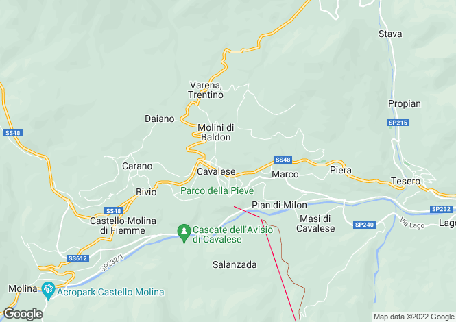 Map for Cavalese, Trento, Trentino-South Tyrol