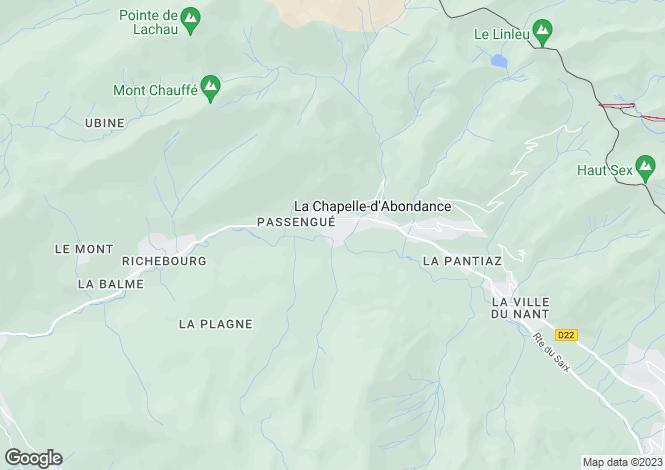 Map for La Chapelle-d`Abondance, Haute-Savoie, Rhone Alps