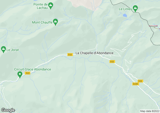 Map for La Chapelle d'Abondance, Haute Savoie, France