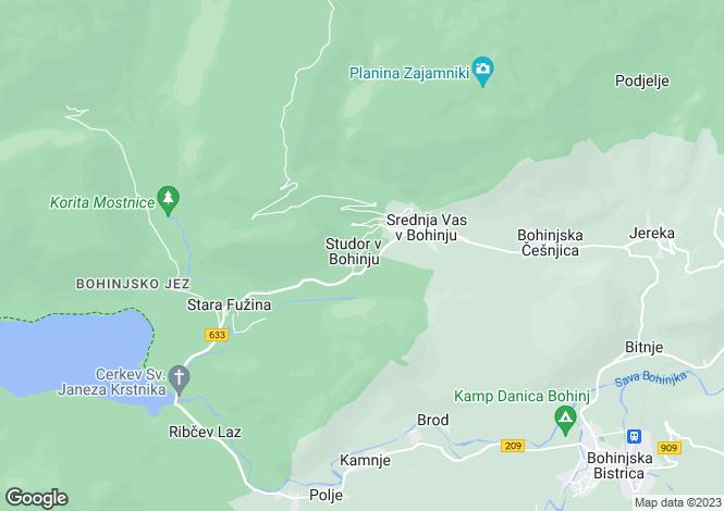 Map for Gorjuse, Radovljica