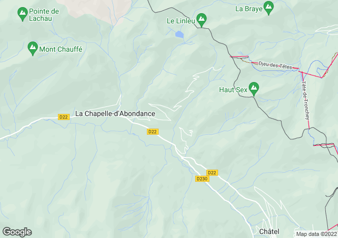 Map for La Chapelle-d`Abondance, Haute-Savoie, Rhone Alps